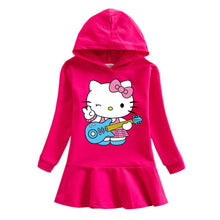 Load image into Gallery viewer, Hello Kitty Hooded Long Sleeved Dress