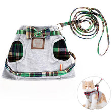 Load image into Gallery viewer, Adjustable Cat Cotton Harness with lead
