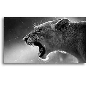 Wild Cats and Roaring Lion Canvas Prints