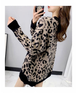Runway Leopard Knitted Sweaters