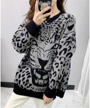 Load image into Gallery viewer, Runway Leopard Knitted Sweaters