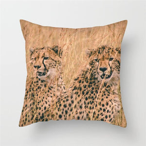 Live Action Leopard Cushion Covers
