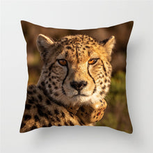 Load image into Gallery viewer, Live Action Leopard Cushion Covers