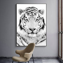 Load image into Gallery viewer, White Tiger Animal Canvas Wall Art