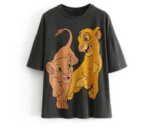 Load image into Gallery viewer, Lion King Animal Print Grey Cotton T-Shirt.