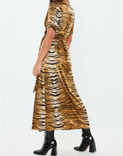 Load image into Gallery viewer, Tiger Print A-Line Dress