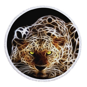 Large Cats Round Beach Towels
