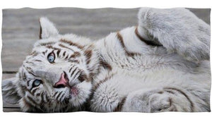 White Bengal Tiger Beach/Bath Towels