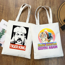 Load image into Gallery viewer, Tiger King Joe Exotic Tote/Shopping Bags