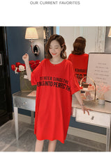 Load image into Gallery viewer, Plus Size Red T Shirt Dress