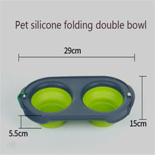 Load image into Gallery viewer, Collapsible Cat Double Feeding Bowl