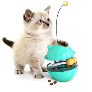 Interactive Cat Tumbler Toy Food Dispenser