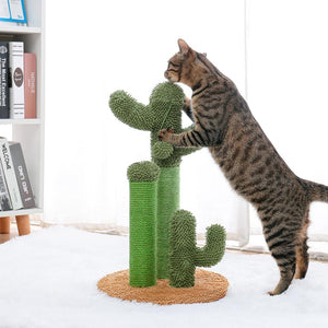 Cute Cactus Cat Tree Scratching Posts