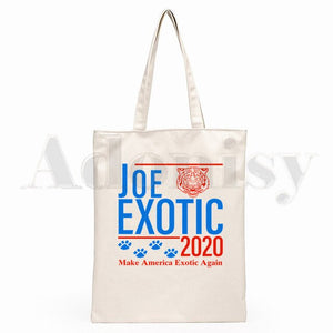 Joe Exotic The Tiger King Canvas Shopping Bags