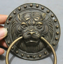 Load image into Gallery viewer, Bronze Carved FengShui Lion Door Knocker