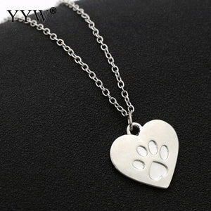 Paw Print Photo Frames Locket Necklaces