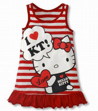 Load image into Gallery viewer, Baby Girls Hello Kitty Striped Mini Dress