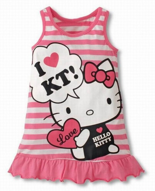 Baby Girls Hello Kitty Striped Mini Dress