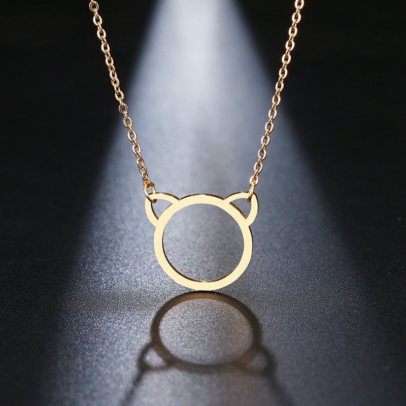 Cat Ear Pendant Necklace