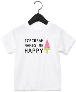 T-Shirt | Icecream makes me happy | NIKKI-LAUREN.COM