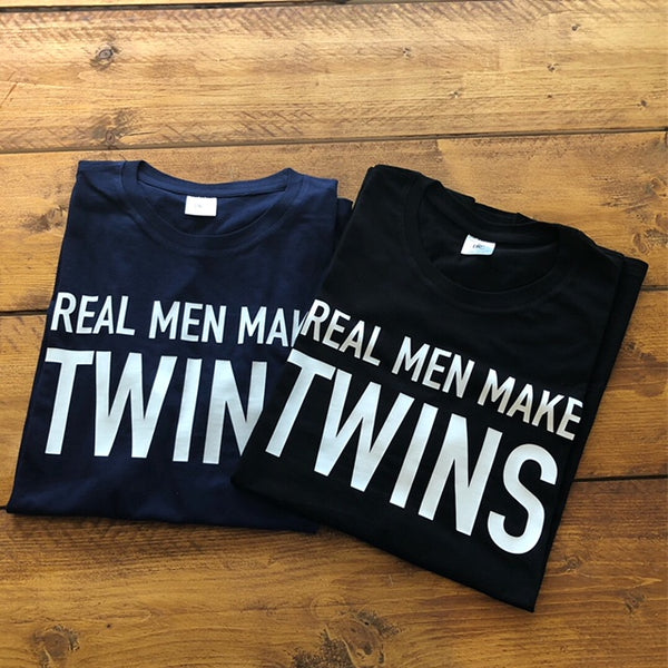 T-Shirt | Real men make Twins | NIKKI-LAUREN.COM