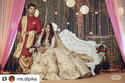 celebrity dipika kakkar reception outfit