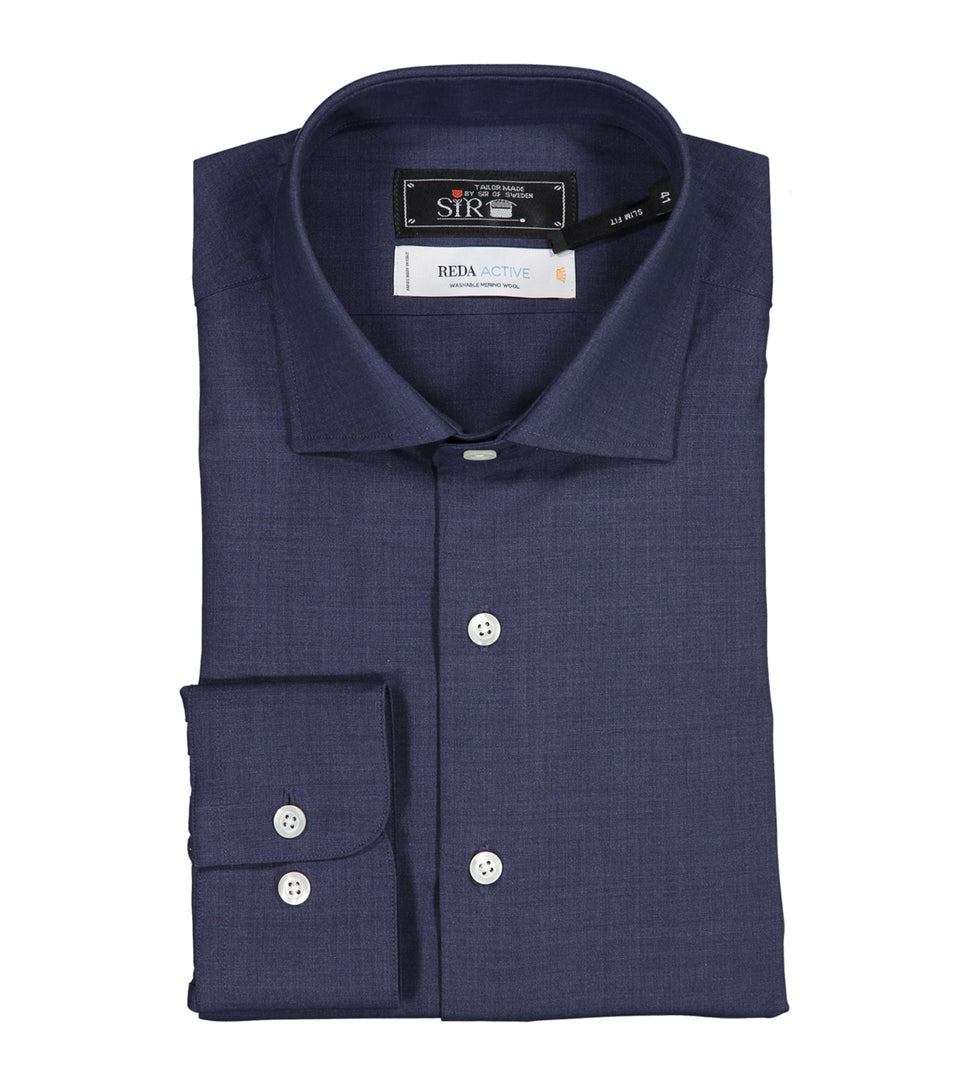 Gordon Navy Merino Shirt