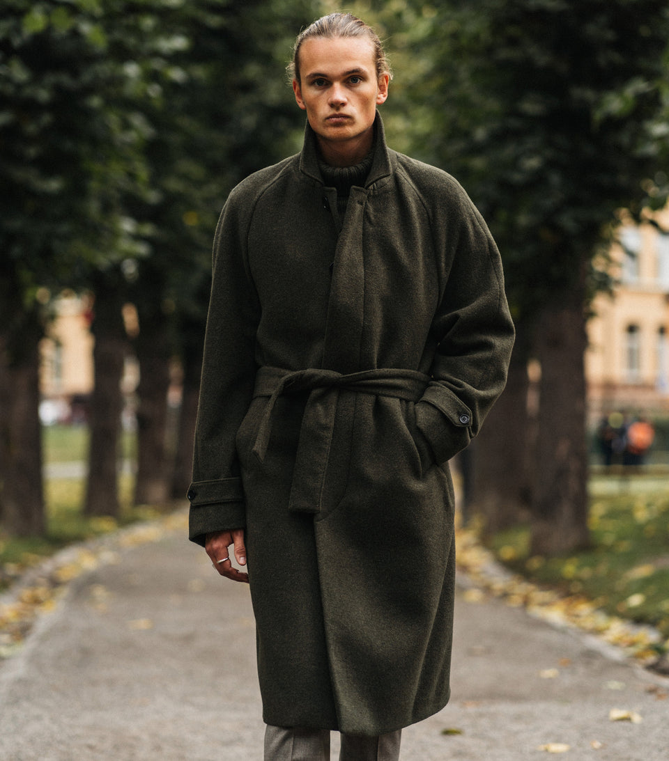 Neo Belt Green Coat