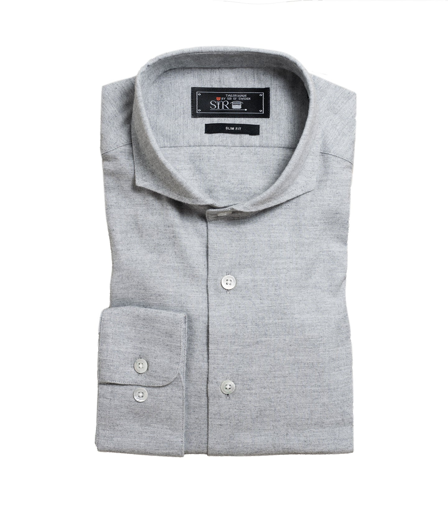 Agnelli Grey Cotton Cashmere Shirt
