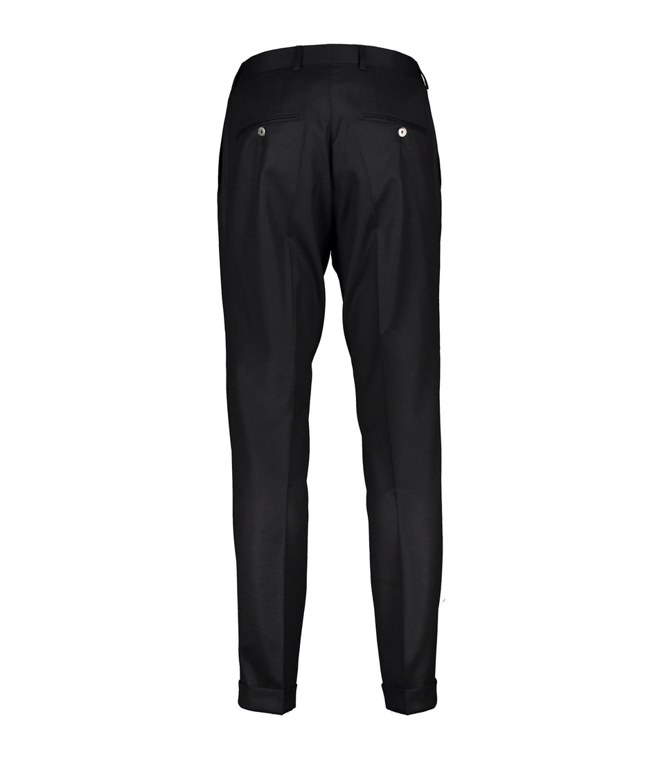 Alex Black Flannel Trousers