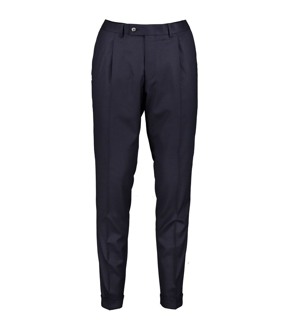 Alex Navy Flannel Trousers