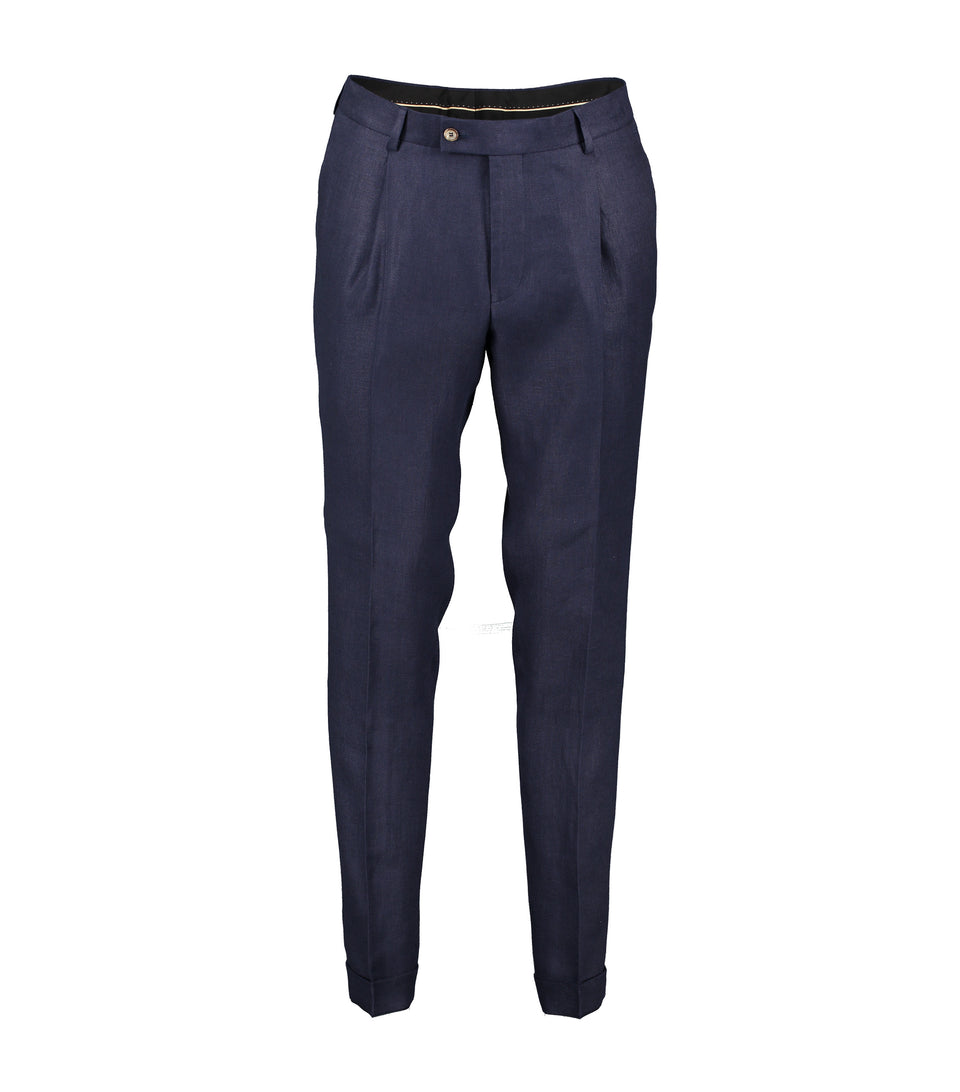Alex Navy Linen Trousers