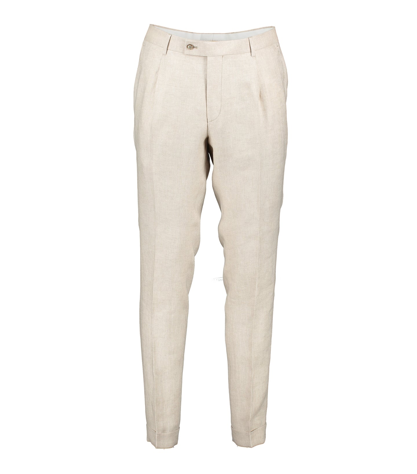 Alex Beige Linen Trousers