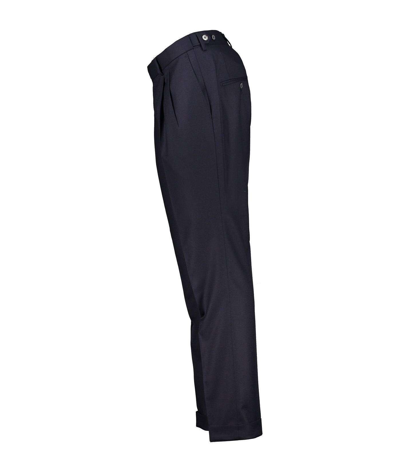 Brett Navy Flannel Trousers