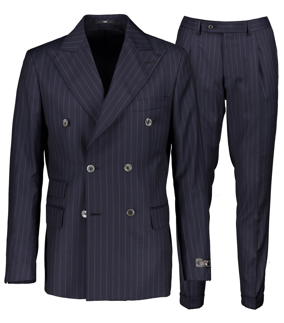 Bugsy Navy Pinstripe Suit