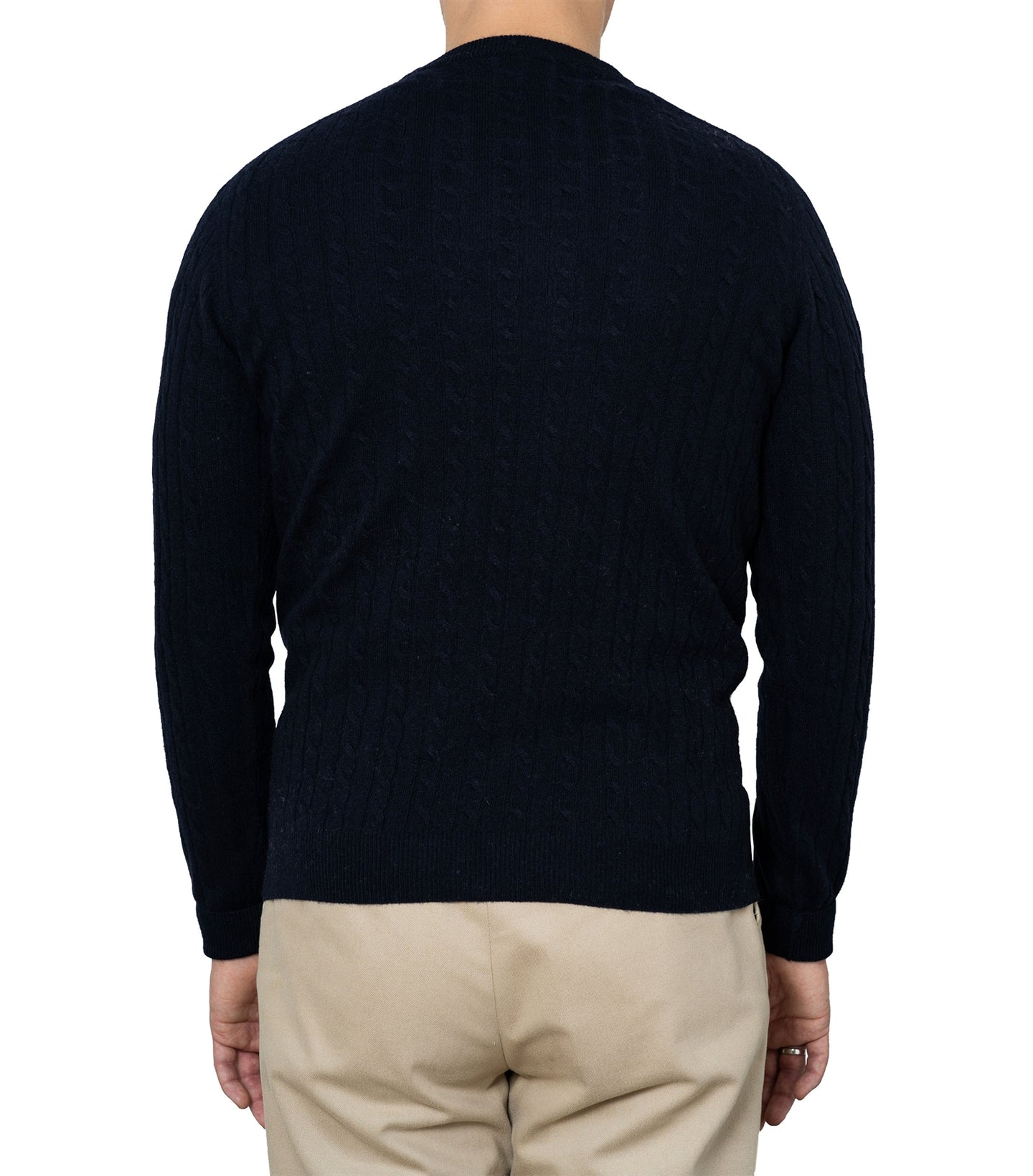 Enar Navy Cable Knit Sweater