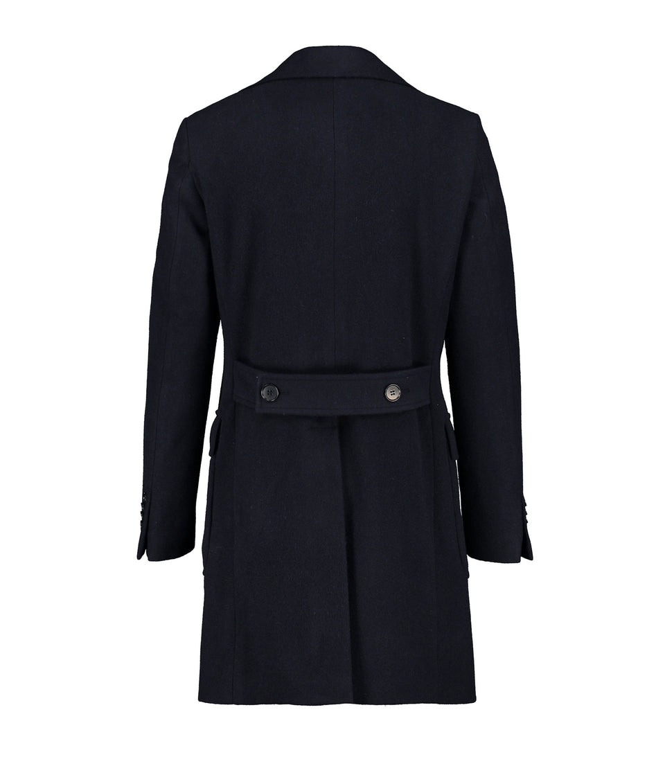 Corleone Navy Double-Breasted Coat