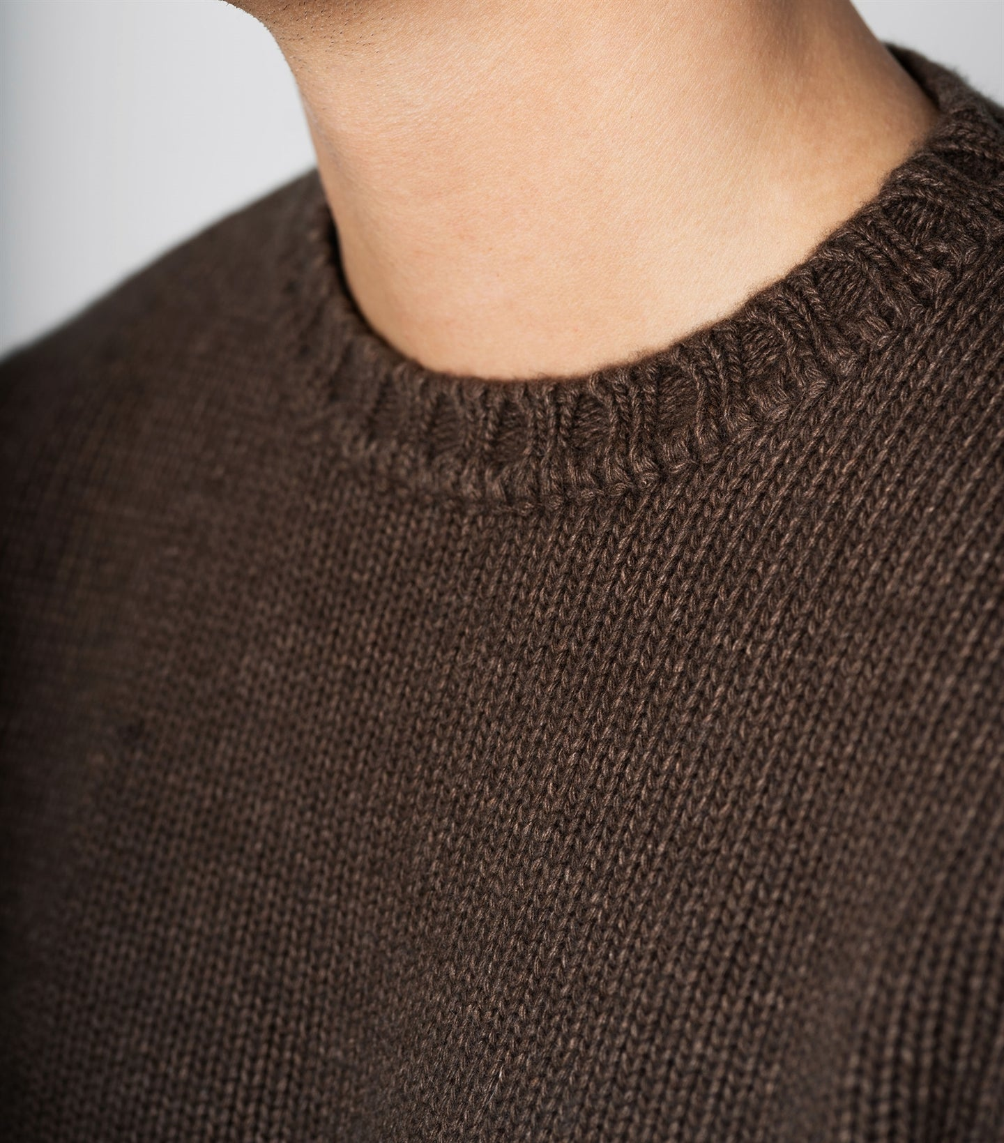 Harald Brown Heavy Knit Crewneck