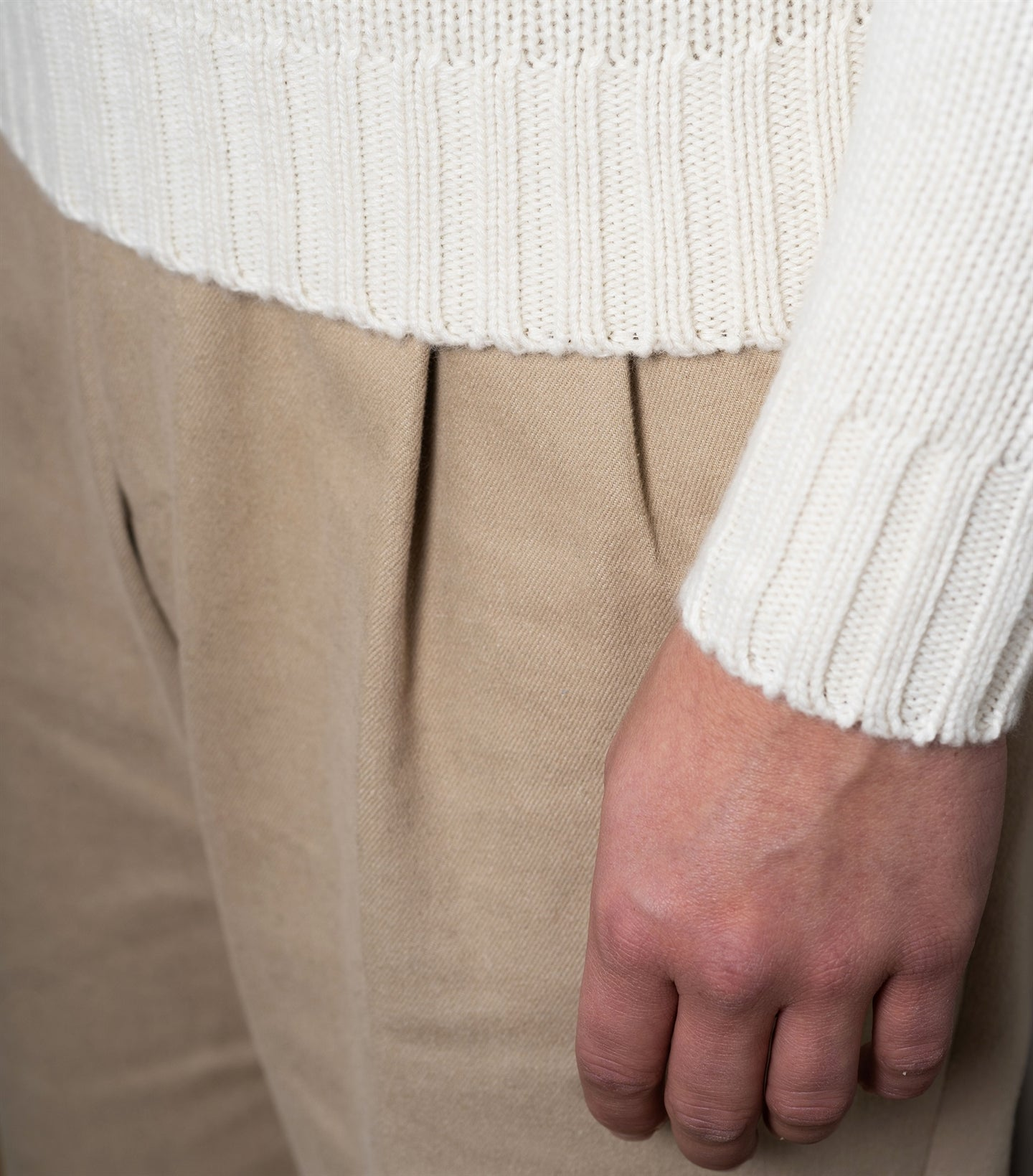 Ragnar White Heavy Knit Rollneck