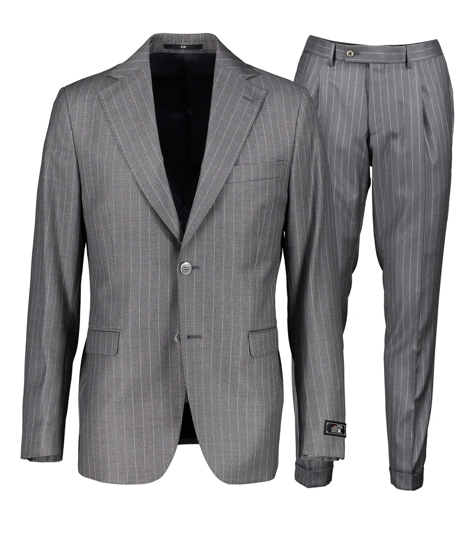 Eliot Grey Pinstripe Suit