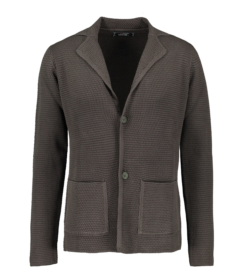 Matera Green Knitted Jersey Jacket