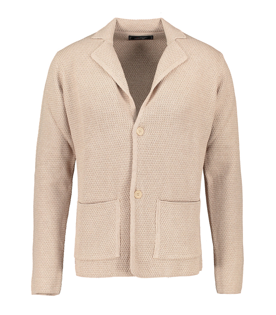 Matera Beige Knitted Jersey Jacket