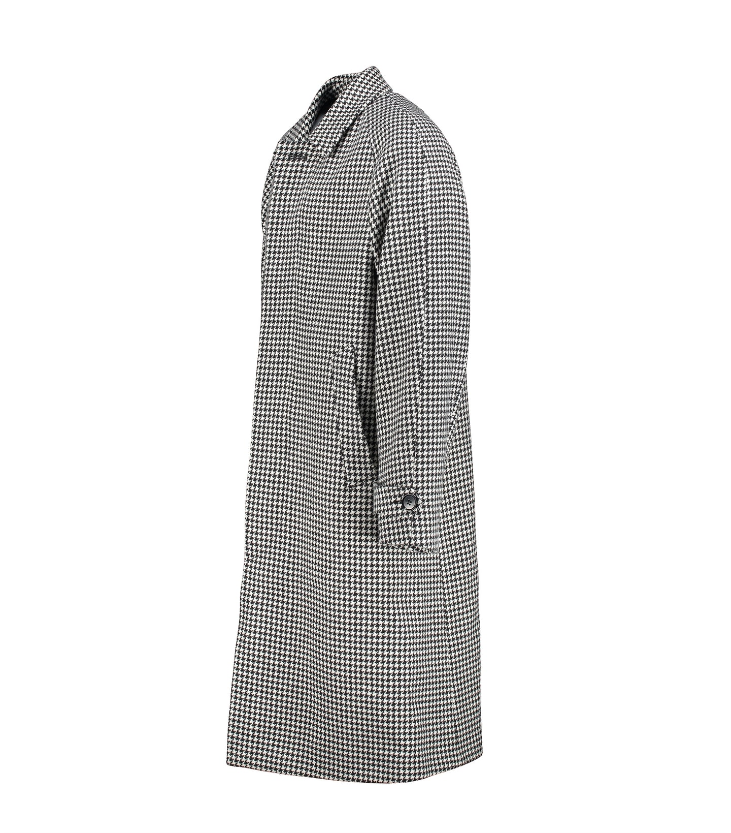 Neo Black And White Houndstooth Coat