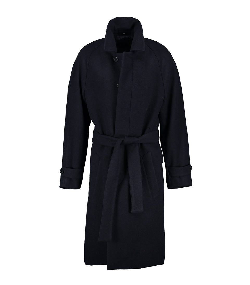 Neo Belt Navy Coat