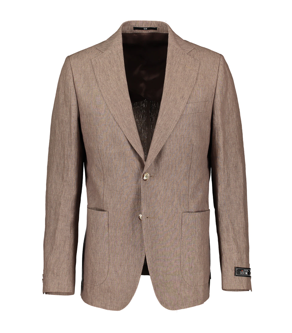Ness Brown Linen Jacket