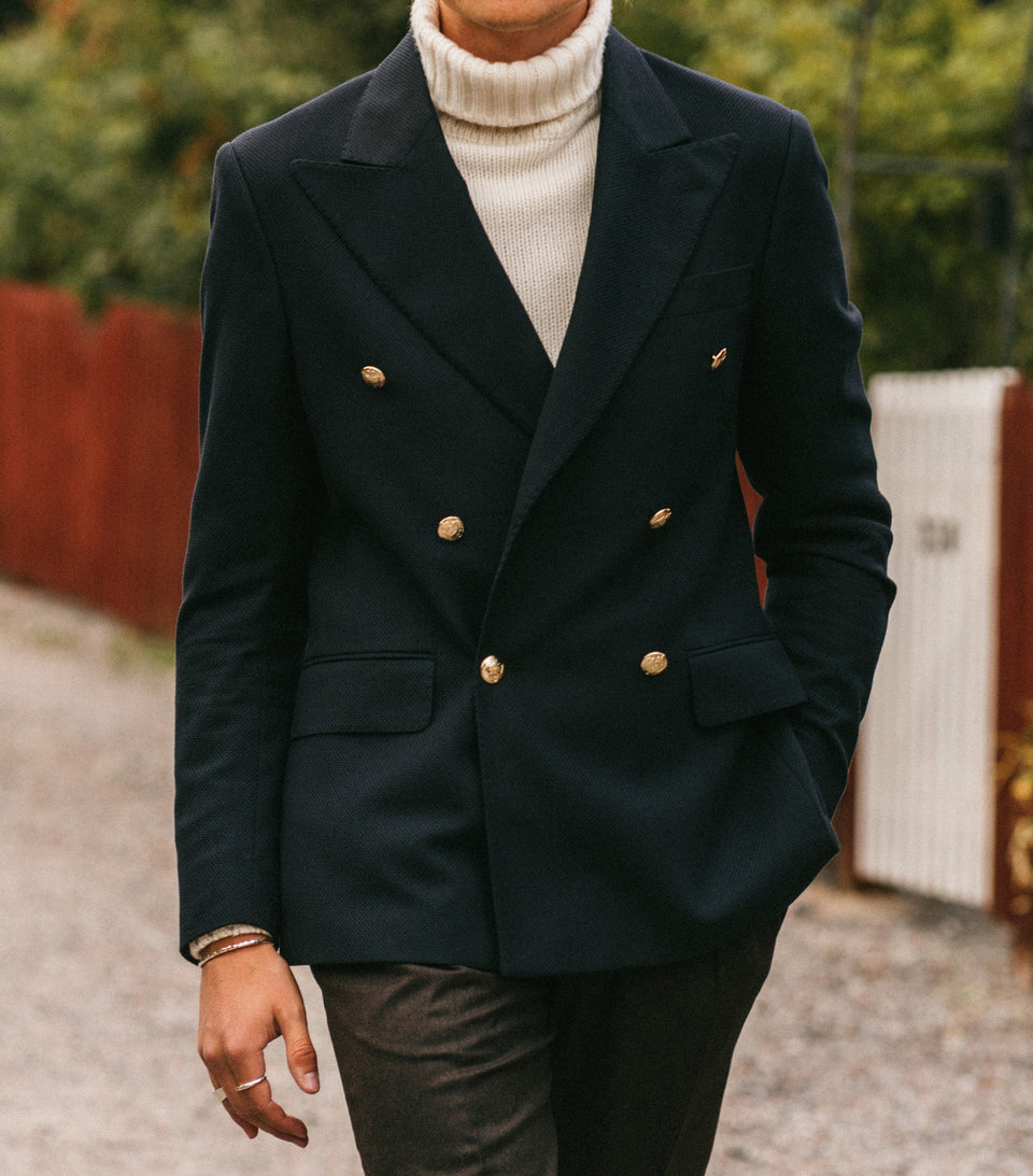 Ralph Navy Double-Breasted Club Jacket