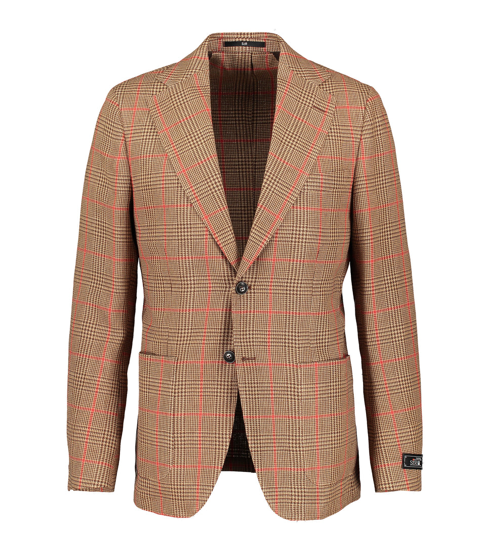 Riviera Brown Prince of Wales Check Jacket