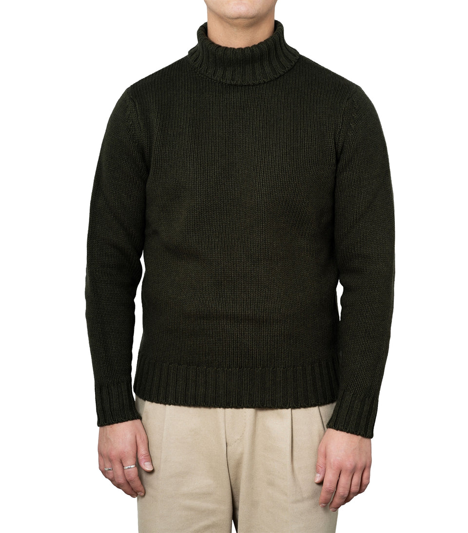 Ragnar Green Heavy Knit Rollneck