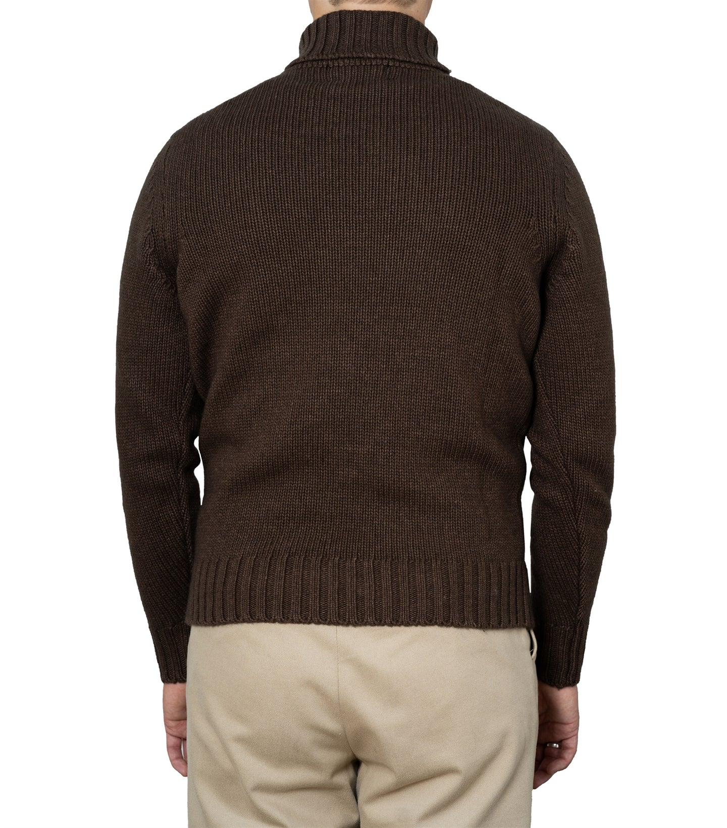 Ragnar Brown Heavy Knit Rollneck