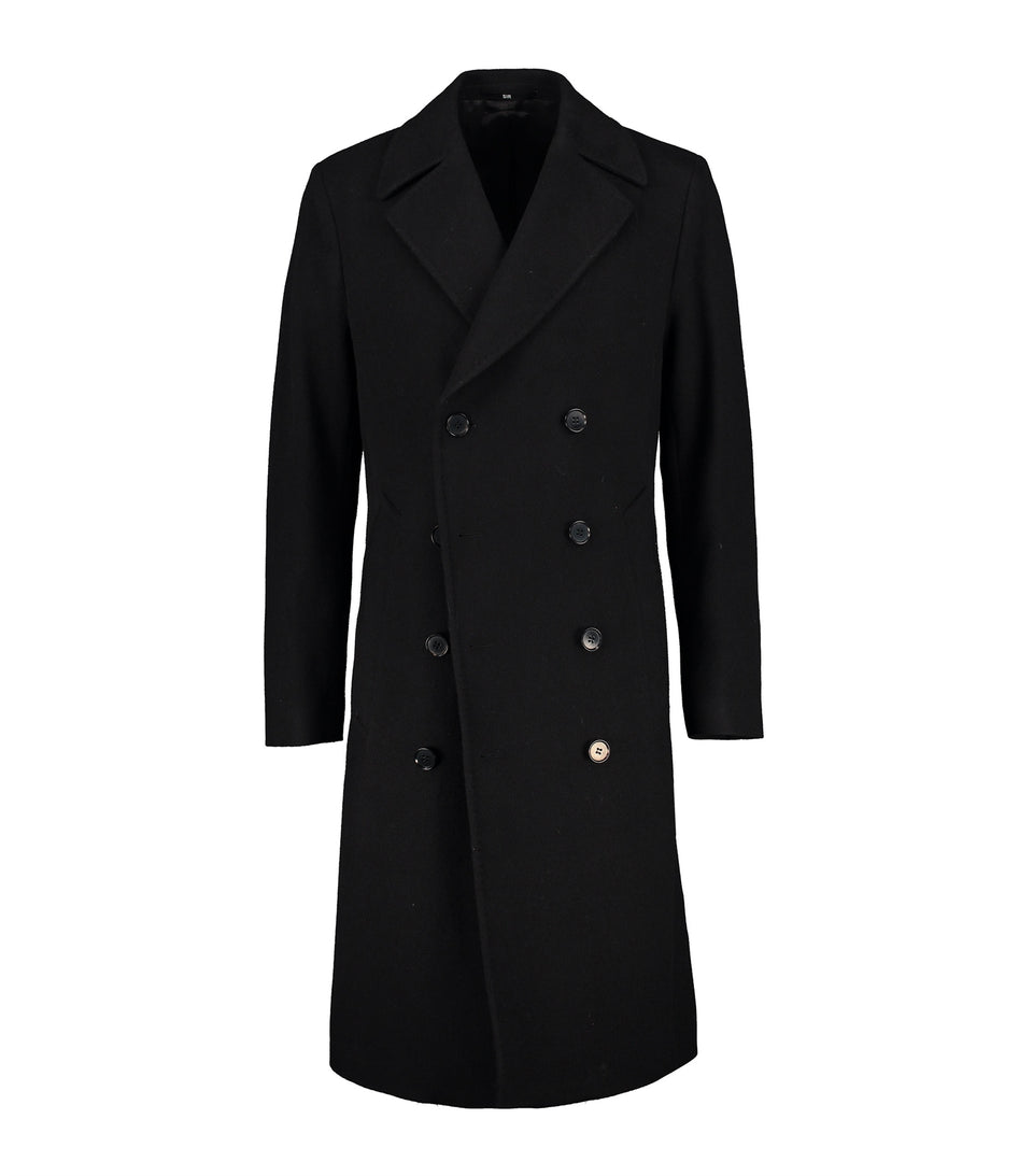 Spectre Black Double-Breasted Coat